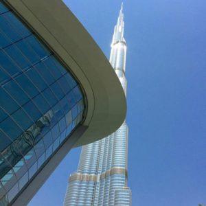 L'opéra de Dubai et le Burj Khalifa.