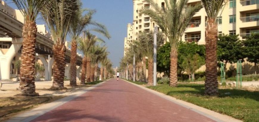 La piste de jogging de la Palm Jumeirah.